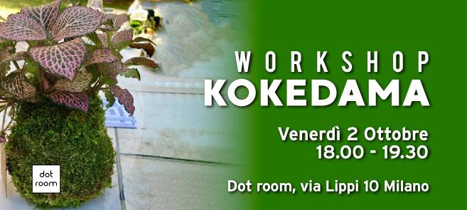 workshop kokedama ottobre dot room