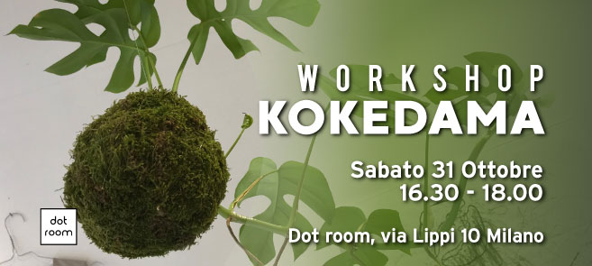 workshop kokedama ottobre dot room