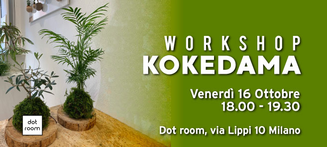 workshop kokedama dot room ottobre