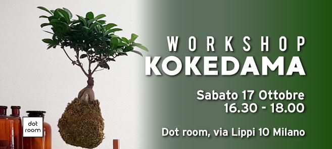 workshop kokedama dot room ottobre