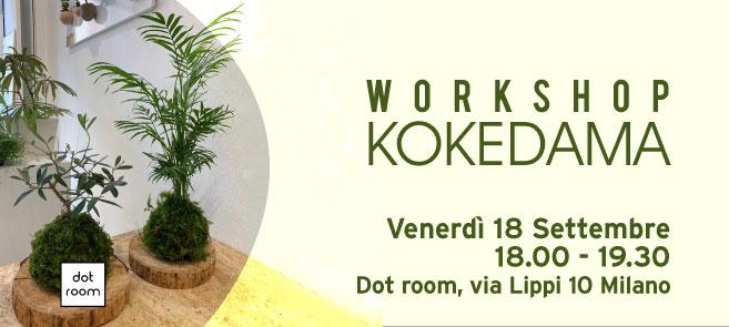 workshop kokedama venerdì 18 settembre - dot room