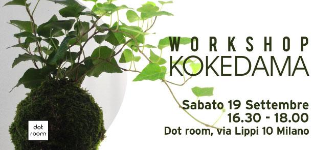 workshop kokedama sabato 19 settembre da dot room