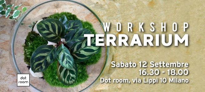 workshop terrarium sabato 12 settembre da dot room
