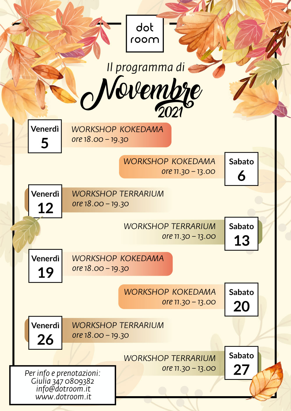 workshop verdi da dot room novembre 2021
